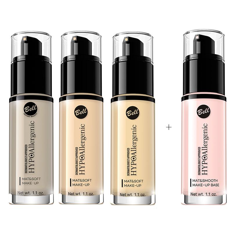 SET Bell HYPOAllergenic Mat&Soft Make-up & Mat&Smooth Make-Up Base