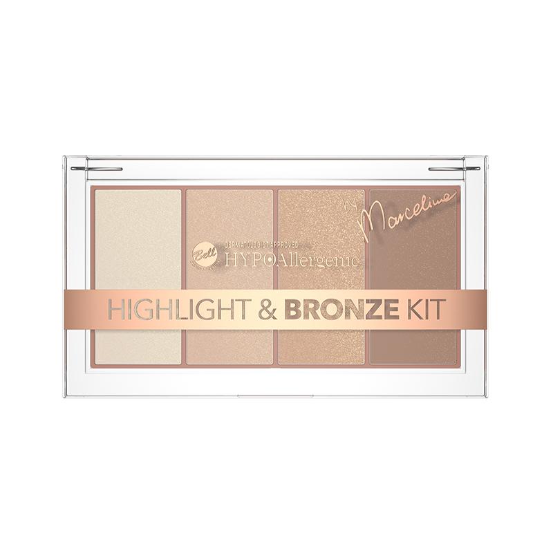 Iluminator si Bronzer - Bell HYPOAllergenic Highlight and Bronze Kit 01
